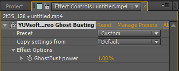 Stereo Ghost Busting toolbar
