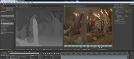 Stereo generation for a shot from Viy